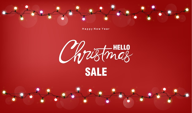 Christmas sale greeting card