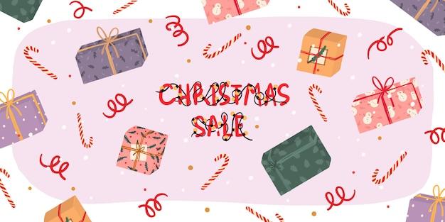 Christmas sale hand drawnbanner