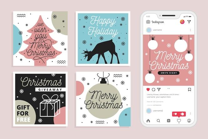 크리스마스 세일 인스 타 그램 포스트 컬렉션