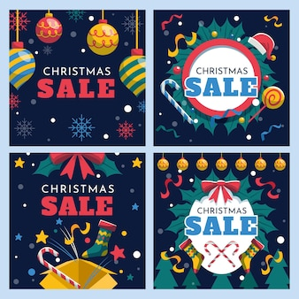 Christmas sale instagram post collection