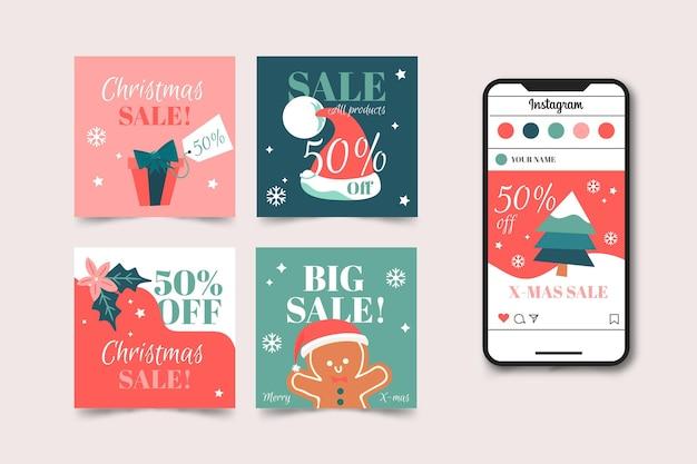 크리스마스 판매 instagram 게시물 수집