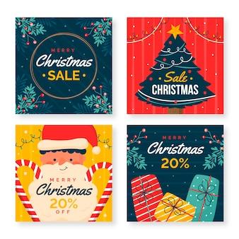 Raccolta di post instagram vendita di natale