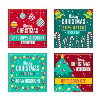 Christmas sale instagram post pack