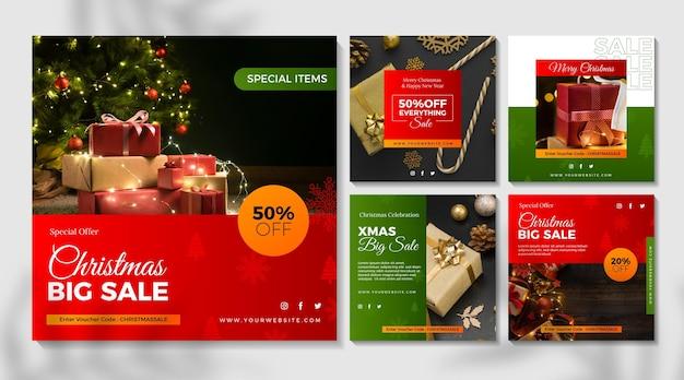Рождественская распродажа коллекция сообщений instagram