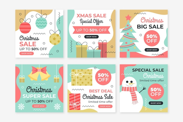 Рождественские продажи instagram посты