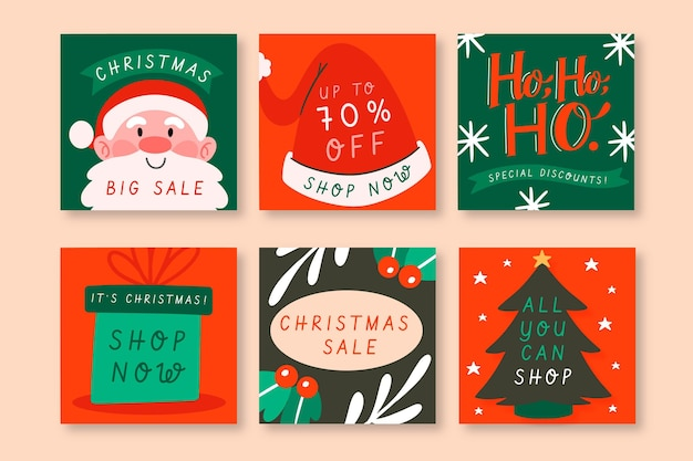 Christmas sale instagram posts