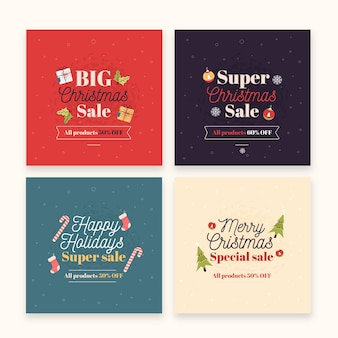 Post di instagram di vendita di natale