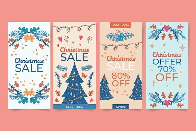 크리스마스 판매 인스 타 그램 스토리 컬렉션