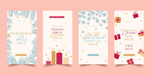 Christmas sale instagram stories collection
