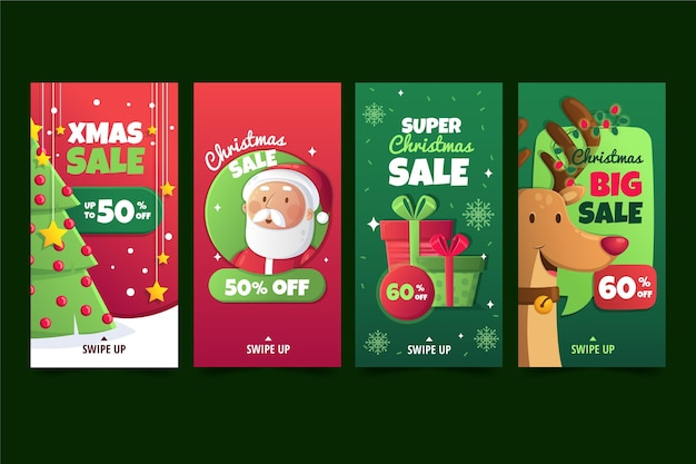 Рождественские продажи instagram рассказы