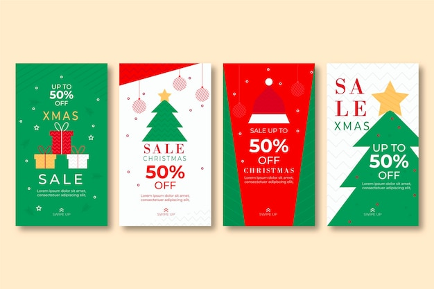 Christmas sale instagram stories
