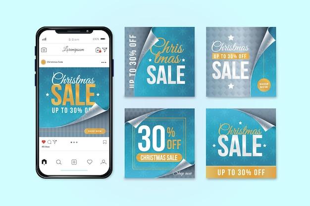 Storie di instagram di vendita di natale