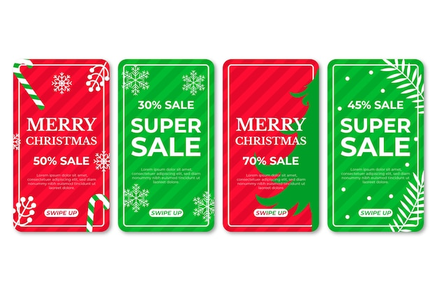 Christmas sale instagram story collection