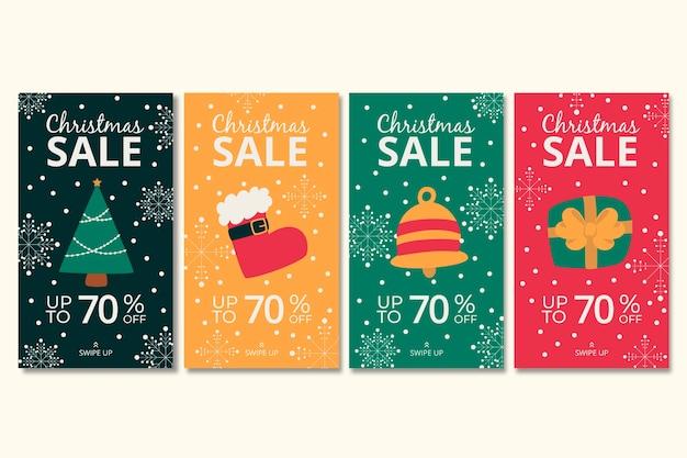 Christmas sale instagram story set