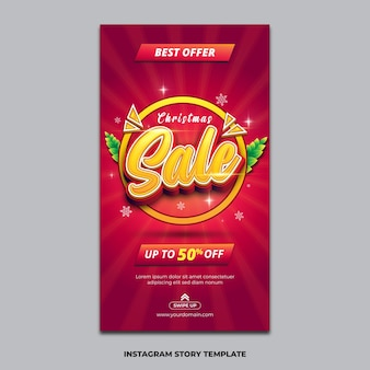 Christmas sale instagram story template