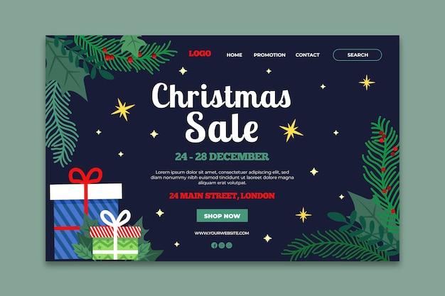 크리스마스 판매 방문 페이지 템플릿