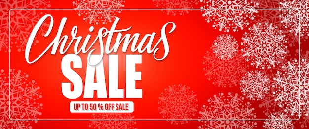 Christmas sale lettering in frame