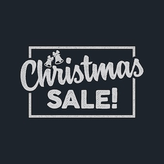 Christmas sale lettering and typography elements. holiday online shopping type quote. stock vector illustration isolated on dark background. color design.