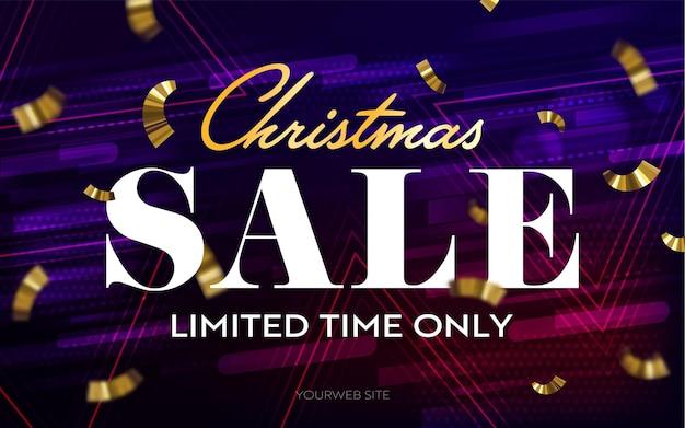 Рождественская распродажа ограниченное время только заголовок баннер