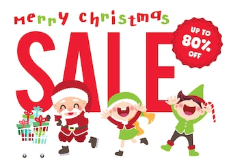 Christmas sale marketing promotion background vector