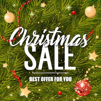 Christmas sale offer for you lettering