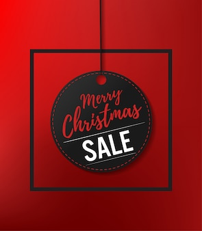Christmas sale paper tags vector design