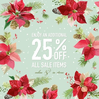 Christmas sale poster or banner