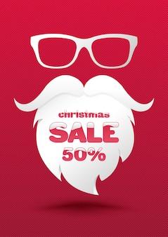 Christmas sale poster template.