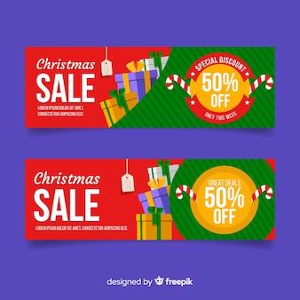 Рождественская распродажа представляет собой кучу баннера