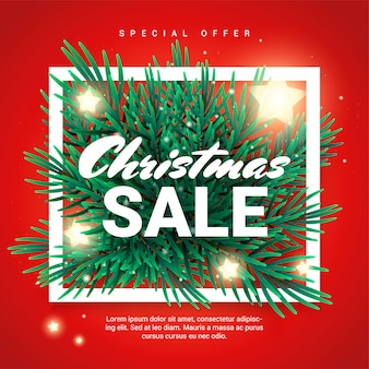 Christmas sale promotion banner with special offer
