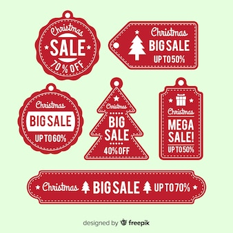 Christmas sale simple label collection