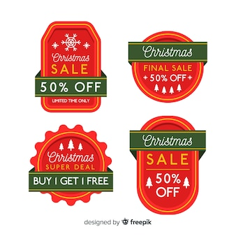 Christmas sale simple label pack