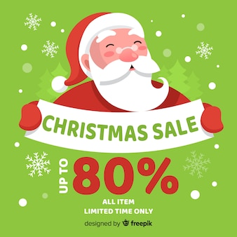 Christmas sale smiling santa
