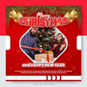 クリスマスセールソーシャルメディア投稿