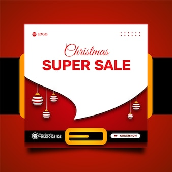 크리스마스 판매 소셜 미디어 홍보 및 인스타그램 배너 포스트 디자인