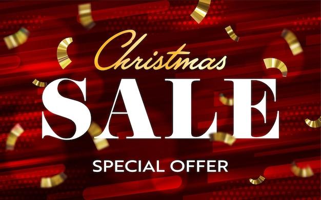 Рождественская распродажа специальное предложение 3d заголовок баннер