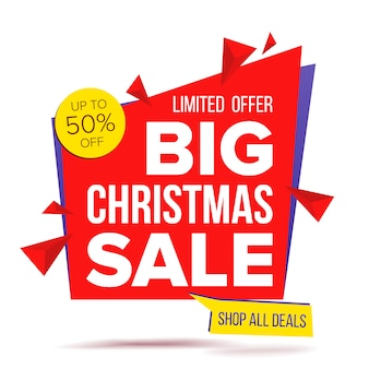 Christmas sale special offer banner