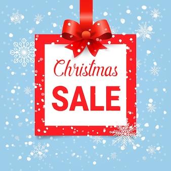 Рождественские продажи квадрат и значок.