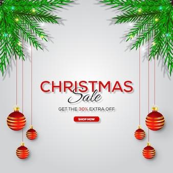 Рождественская распродажа квадратный баннер