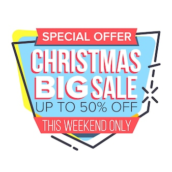 Christmas sale sticker