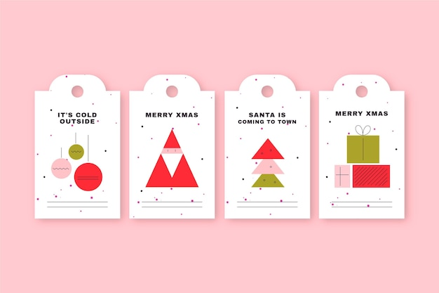 Christmas sale tag collection in flat design
