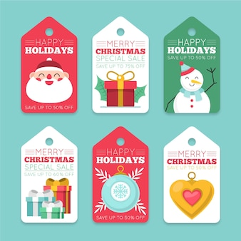 Коллекция рождественских распродаж в плоском дизайне
