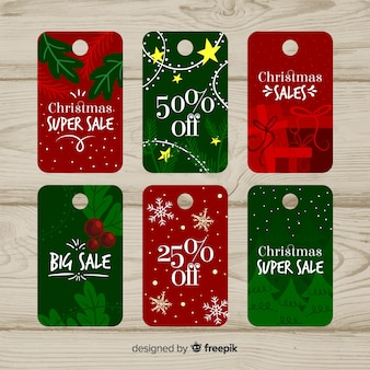 Christmas sale tag collection