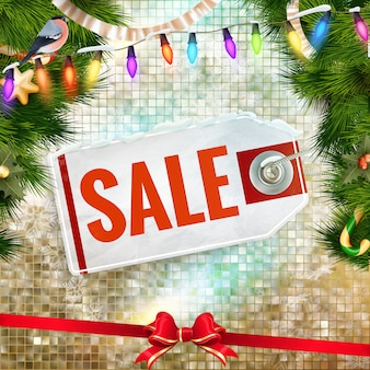 Christmas sale tag.