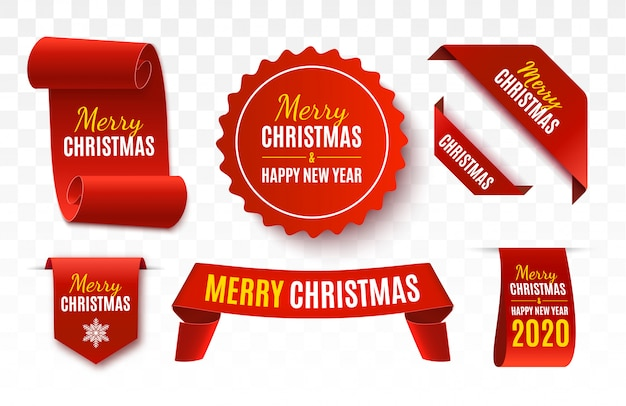 Christmas sale tags. vector banner