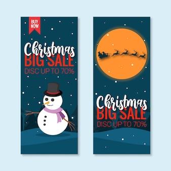 Christmas sale vertical banner