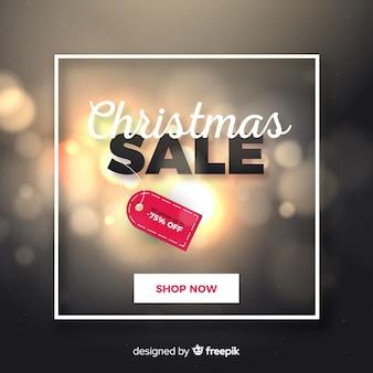 Banner web di vendita di natale