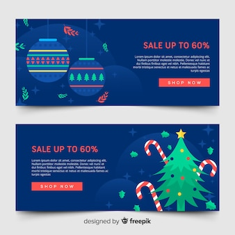 Christmas sale web banners