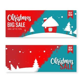 Christmas sale winter illustration
