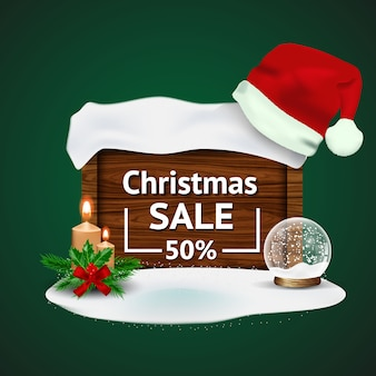 Christmas sale with christmas decorations